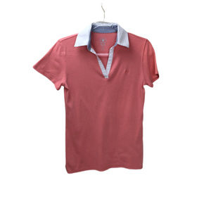 Izod Peach Polo Shirt with Short Sleeves Size S